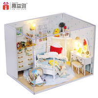 DIY Doll House Miniature Wooden Dollhouse Furniture Wooden Handmade Toys for Children DIY Home Toy Christmas and Birthday Gift