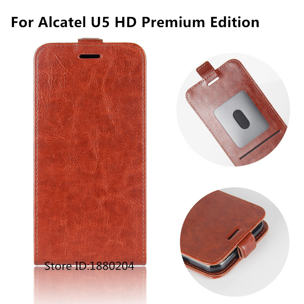 quality design 252f6 0c1a5 US $3.65 13% OFF|Luxury Protection Telefoon Hoesje For Alcatel U5 HD  Premium Edition 5047U 4G U5HD Phone Case PU Leather Flip Cover For TCL  5047U-in ...