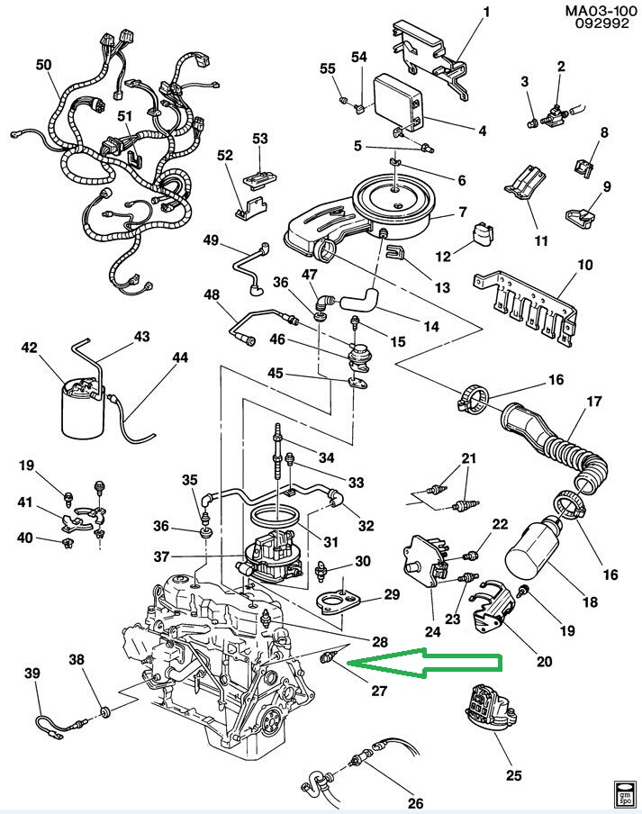 buick lucerne water pump location