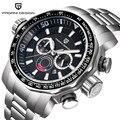 Stainless Steel Watches Men Luxury Brand Waterproof Sport Quartz Watches Man Chronograph Watches Military Men Clock montre homme