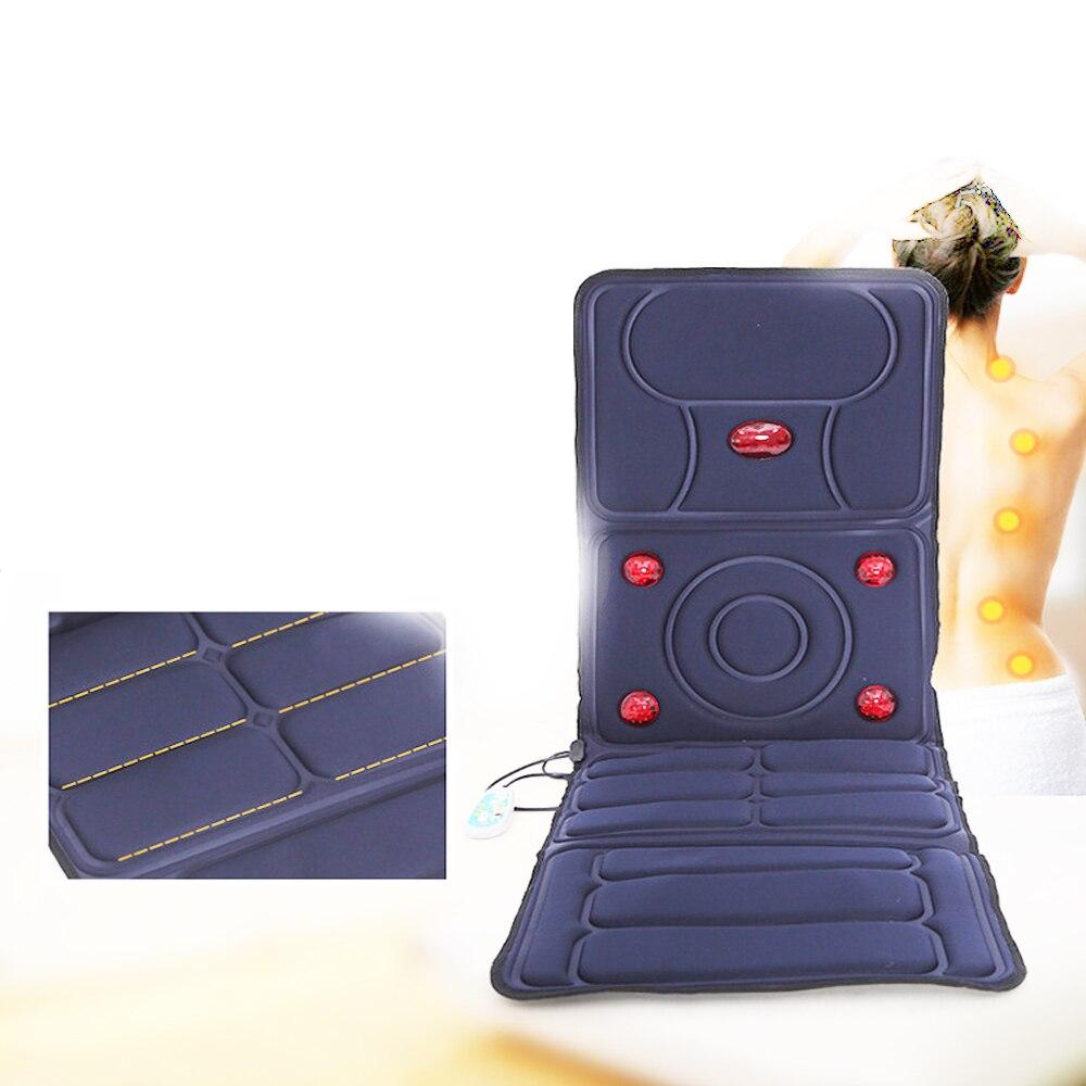 Вибрационная массажная подушка с подогревом затылочный шейный массаж Акупрессура Подушка Дальний инфракрасный матрац Массажный коврик 110 240 В|Массаж Диванная подушка|   | АлиЭкспресс