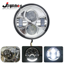 Lighting 5.75″ Round High/Low Motorcycle Headlight Projector LED Light Bulb for Harley Dyna FXSTS