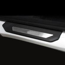 Lsrtw2017 Stainless Steel LED Car Door Sill Threshold Strip Trims for Honda Vezel Xrv 2015 2016 2017 2018 2019 2020 lsrtw2017 stainless steel car door sill strip threshold trims for skoda octavia 2015 2016 2017 2018 2019 2020