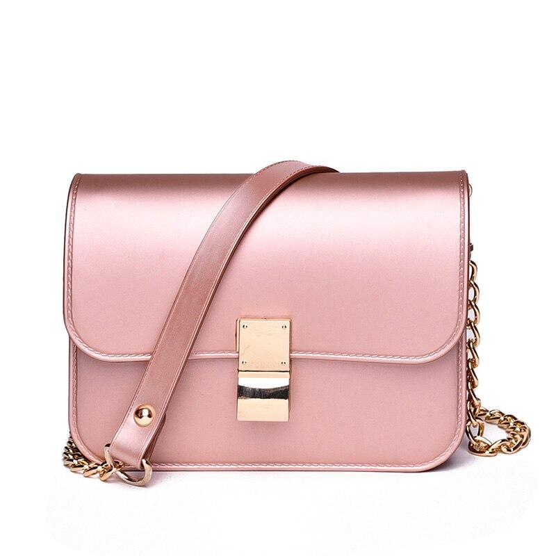 2018 ПВХ желе сумка Женские цепочки для женщин курьерские Сумки Lxuury сумки дизайнер известный бренд плеча через плечо|Сумки с ручками|   | АлиЭкспресс