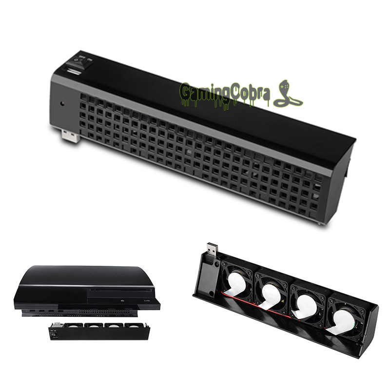 Deluxe USB QUIET COOLING COOLER FAN 4 Port FOR SONY PLAYSTATION 3 PS3  Colsole