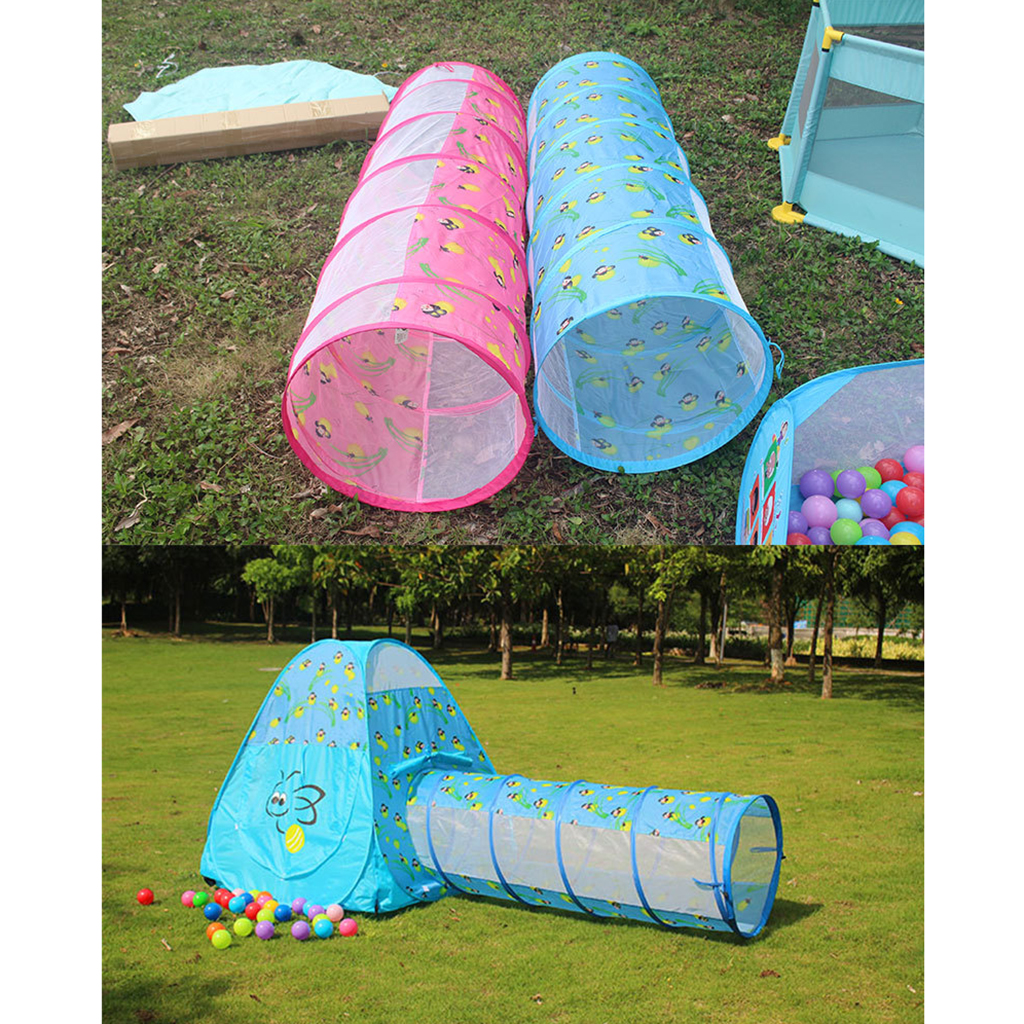 reputable site b0e58 ddbc5 US $19.3 48% OFF|59 inch Cartoon Animal Tunnel Play Tent Hut Playhouse  Sensory Developmental Crawling Tunnel Game Outdoor Toy Blue-in Toy Tents  from ...