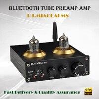 PJ.MIAOLAI M8 Preamplifier Tube Amplifier Audio Home Pre amplifier Subwoofer Amplifier Bluetooth Preamp Csra64215 Tube Preamp