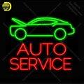 Auto Service Neon Zeichen Glas Rohr Handgemachte Avize neon licht Zeichen Schmücken Hotel Bus Auto zimmer Ikonische Neon Licht Lampe werben-in Neonröhren & Röhren aus Licht & Beleuchtung bei