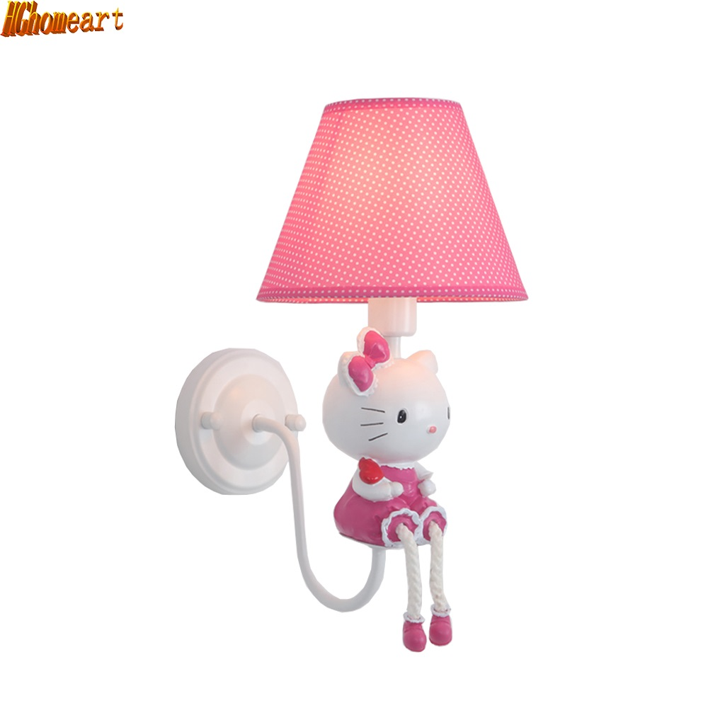 HGhomeart Creative Children Indoor Lighting Wall Lamp Bedroom Wall Lamp Cartoon Children Energy Saving Wall Lamp