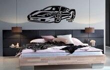 להתאמה אישית אישית שם 458 סופר רכב ויניל קיר מדבקות מכונית ספורט חובבי נוער חדר shool בית קיר מדבקות 2CE13