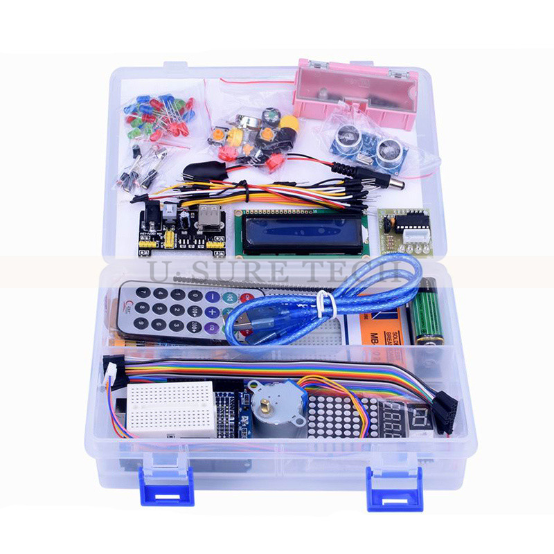 Starter Kits For Arduino Uno R3 With Tutorial UNO R3 KIT Upgraded version Learning Suite Free Shipping