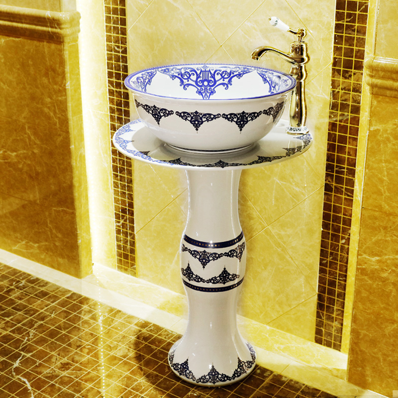 Bathroom Pedestal Washbasin Ceramic Outdoor Bathroom ... on Outdoor Sink With Stand id=82188