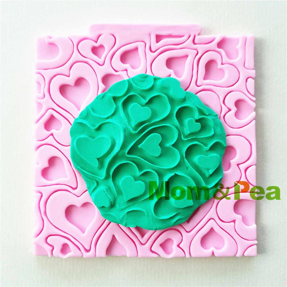 Mom & Erwt 0910 Gratis Verzending Hart Patroon Vormige Silicone Mold Cake Decoratie Fondant Cake 3D Mold Food Grade
