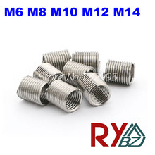 50pcs/lot M6,M8,M10,M12,M14*1.0*1D/1.5D/2D/2.5D/3D Wire Thread Insert/Screw Bushing/Thread Repair/DIN8140/Stainless Steel(China)
