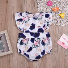 2019 Infant Baby Girl 6-24M Rose Printed Children 4pcs/lot