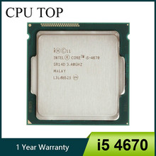 Intel core i5 4670 3.4 ghz 6 mb soquete lga 1150 quad-core processador cpu sr14d(China)