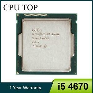 Image 1 - Intel Core i5 4670 3.4GHz 6MB Socket LGA 1150 Quad Core CPU Processor SR14D