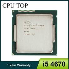 Intel core i5 quad core, 4670 3.4ghz 6mb de soquete lga 1150 processador central quad core sr14d