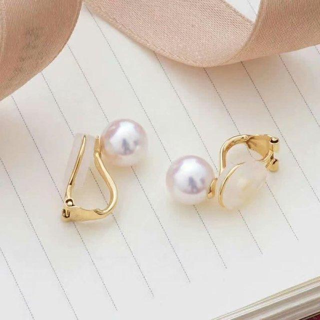 shilovem 18k yellow gold Natural  freshwater pearls stud Earrings fine Jewelry new round women trendy wedding  gift yz8.5-009zz 5