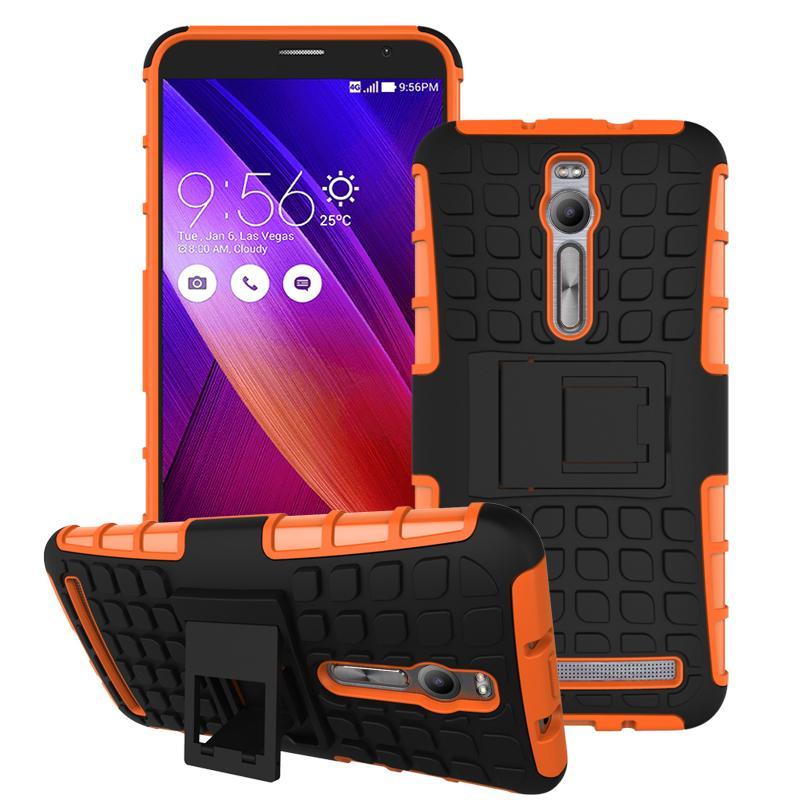For Asus Zenfone 2 ZE551ML ZE550ML Case Heavy Duty Armor Stand Shockproof Hybrid Hard Soft Rugged Silicon Rubber Phone Cover HTB1V1K4JFXXXXXZXpXXq6xXFXXXY