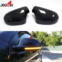 Carbon Fiber For VW GOLF 5 GTI V MK5 Jetta MK5 Passat B5.5 B6 Sharan Superb B5 Car Side Wing Rear View Mirror Cover Replacement