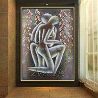 Lovers nude oil painting Sexy wall art Home Decor Home Decoration Oil painting Wall Pictures for living room Wall art paint