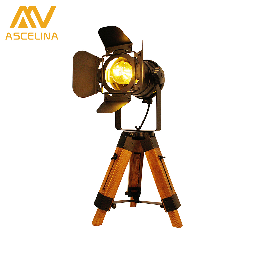 купить American Tripodal Table Lamp ASCELINA Vintage Loft LED Desk lamps table light Night Lights Adjustable for Height Home lighting по цене 5914.42 рублей