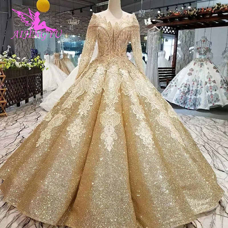 Aijingyu Wedding Dresses 2 In 1 Best Bridal Gowns Indian Y Couture 2019 Lace Long Sleeve Perfect Dress