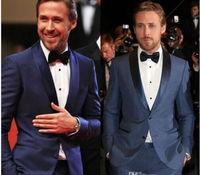 La migliore vendita di nuovo stile di modo Menswear, suitsfashion midnight blue vestito dello sposo, best man, miglior uomo vestito di abito da sposa palla