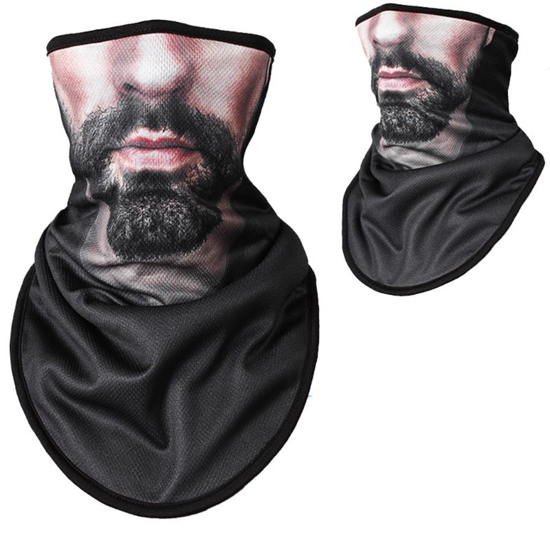 Unisex Outdoor Triangle Scarf Colorful Face Mask Graffiti Camouflage Skeleton Printing Motorcycle Cycling Bandana Neck Warmer