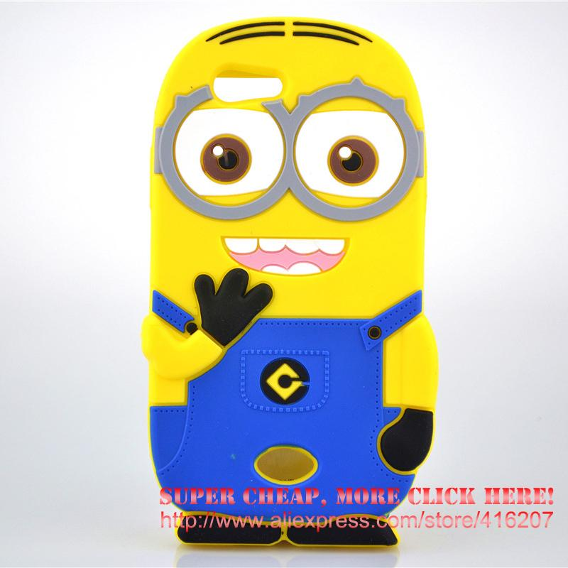For <font><b>OPPO</b></font> A31T Case 3D cute cartoon Soft Rubber silicon Yellow Minion Cell <font><b>Phone</b></font> Case