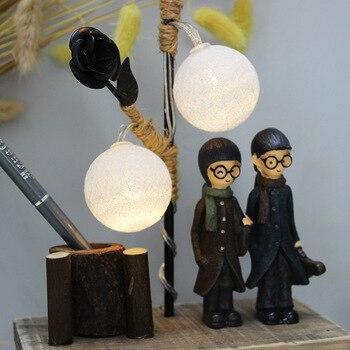 Lámpara De Hierro Forjado | Decoración De La Lámpara Del árbol De Hierro Forjado De La Pareja De Resina De La Vendimia Decoración Creativa Del Molino De Viento