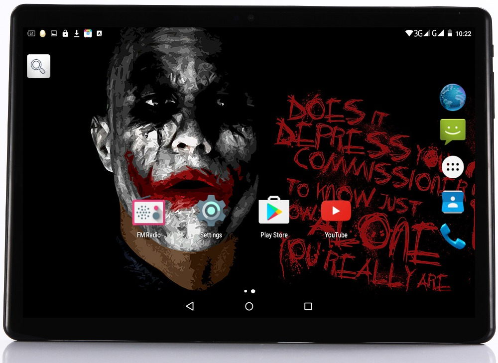 2.5D Tempered Glass Android 7.0 10 inch tablet pc Deca Core 4GB RAM 64GB ROM 10 Cores 1920*1200 IPS Kid Gift MID Tablets 10.1