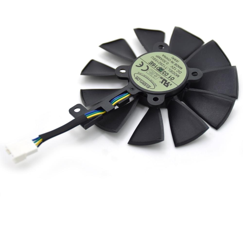 87MM T129215SU Cooling Fan For ASUS STRIX R9 390X/R9 390 RX580 8G Gaming  GTX 1070TI GTX1080TI Gaming Graphics Card Cooler Fans