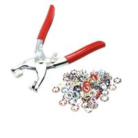 Fasteners Press Studs Poppers Buckle Clothing Snap Buttons Kit And Plier For Clothes 120 Sets 6