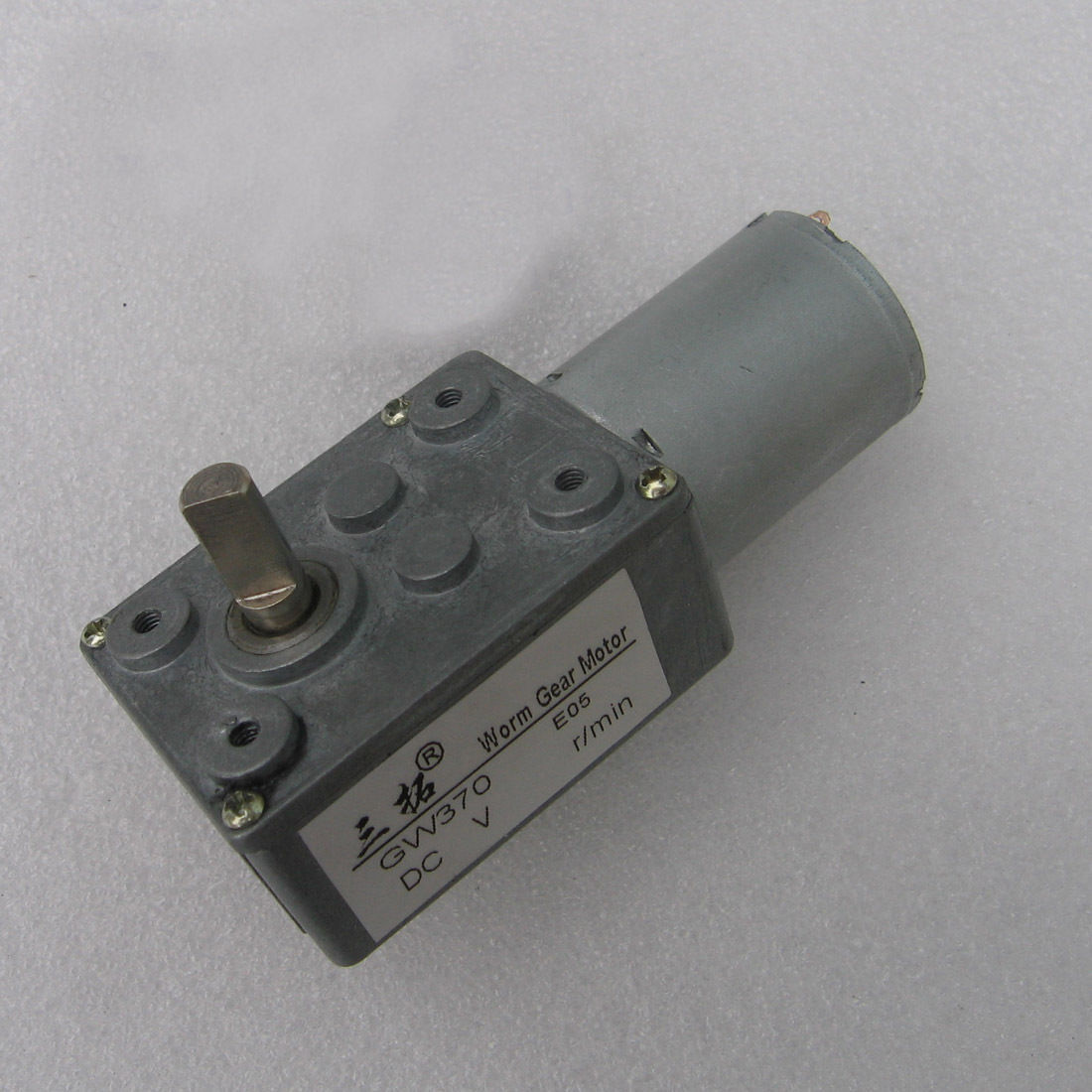 1PC High torque Turbo worm Geared motor DC motor GW370 Robot model Low speed 0.6RPM 180RPM