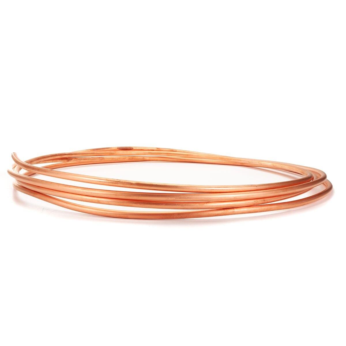 5/16 pouce diamètre 5m bobine souple cuivre laiton Tube tuyau climatiseur tuyau de cuivre réfrigérant gaz Tube bricolage refroidissement - 4
