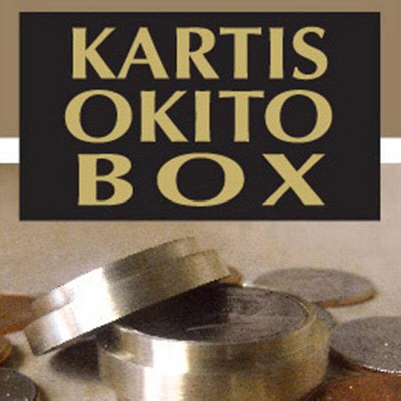Kartis Okito Box (Half Dollar Version) Coin Magic Tricks Close Up Magic Props Illusions Magician Coin Vanishing/Appearing Fun