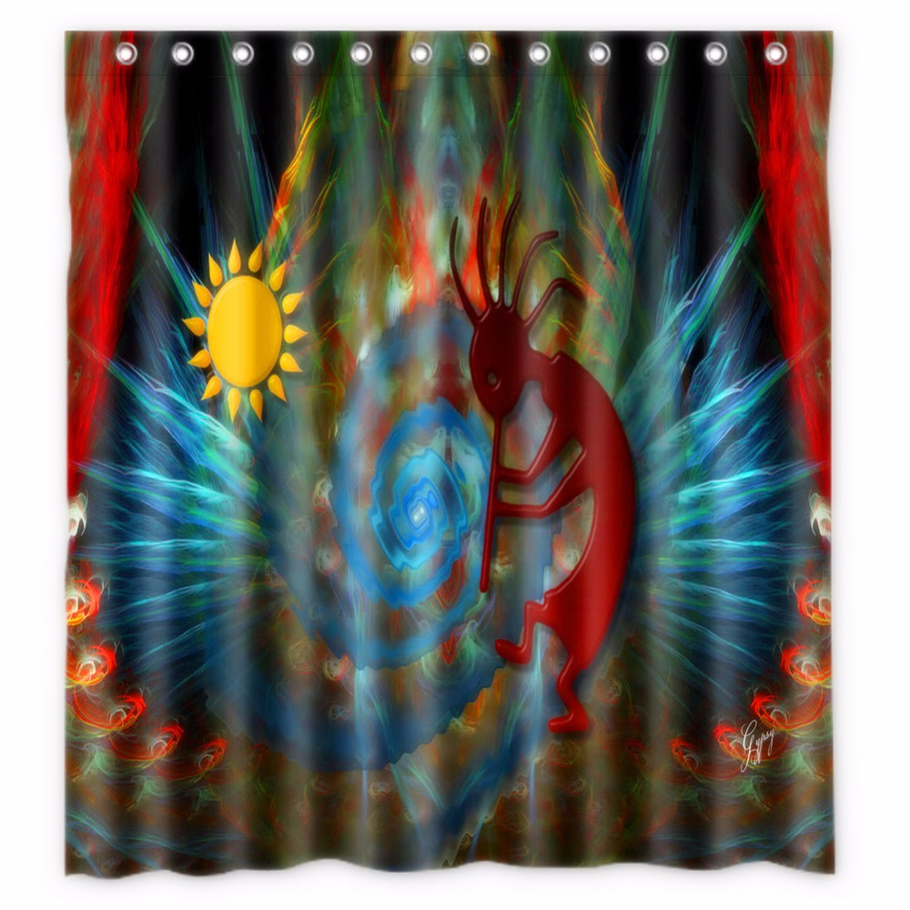 66 X72 Inch Kokopelli Shower Curtain Waterproof Fabric For Bathroom In Curtains From Home Garden On Aliexpress