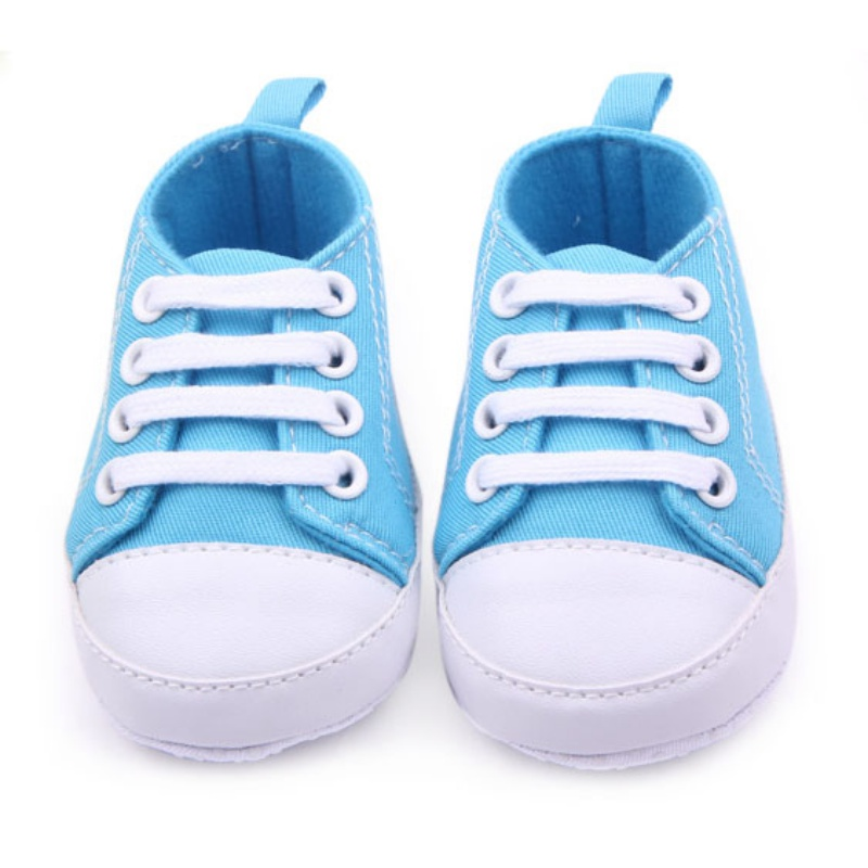 Infant Baby Boy Girl Kid Soft Sole Shoes Newborn Lace Up Sneaker 0-12Months