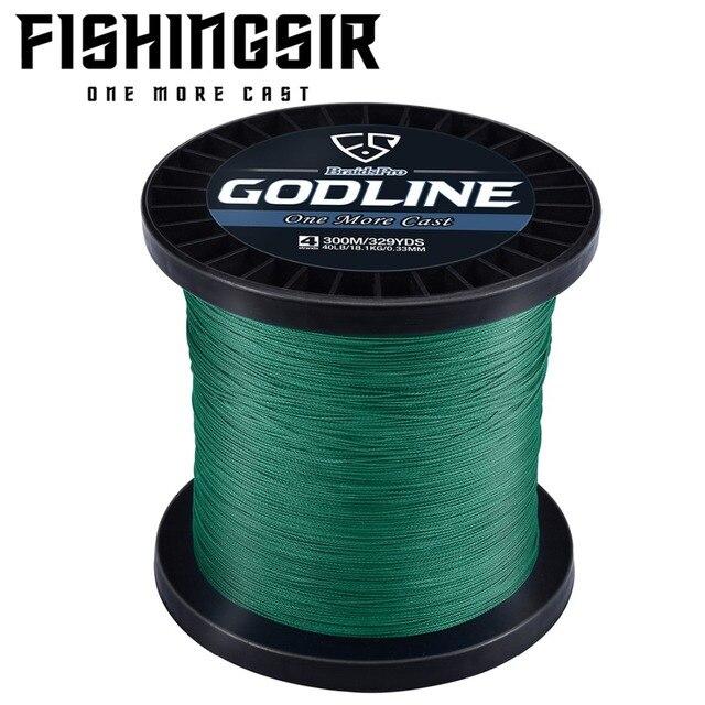 FISHINGSIR GODLINE PE Braided Fishing Line Multifilament 500M 4 Strands Smooth Multifilament PE Fishing Line for Saltwater