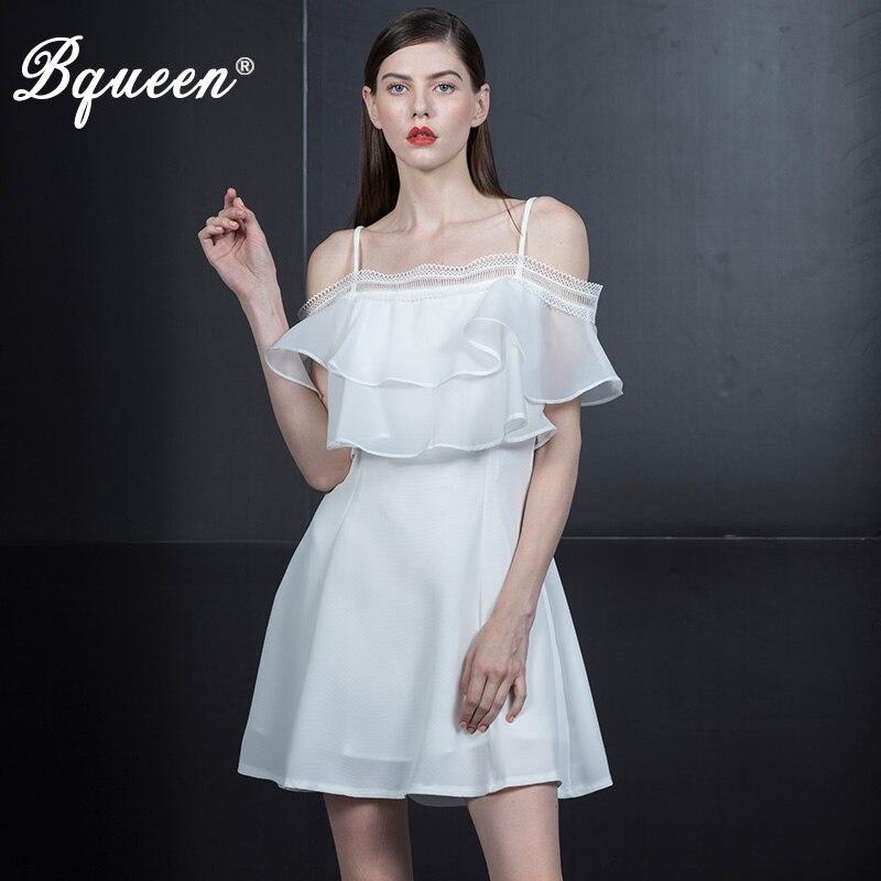 Bqueen femmes 2019 nouvelle Mini robe maille hors épaule robes de soirée Spaghetti sangle d'été robes décontractées Vestidos