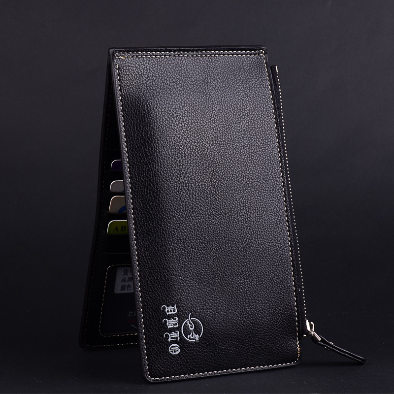 Ultrathin Bank Card Sets Mens Multifunctional Bits Credit Card Holder Large Capacity Wallet Zip Phone Pocket Purse for Men
