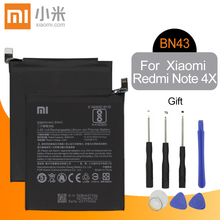 Xiao Mi BN43 Original Replacement Phone Battery 4000mAh For Xiaomi Redmi Note 4X 4 X / Note 4 global Snapdragon 625 + Free Tools