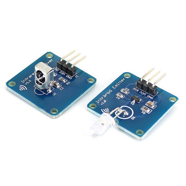 2x Modulating Infrared IR Transmitter Receiver Sensor Modules 38 KHz For Arduino