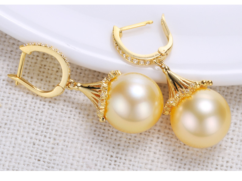 southsea pearls gold earrings 55