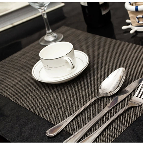 4pcs/lot PVC Decorative Placemats For Dining Table Linen Place Mat In  Kitchen Cup Wine