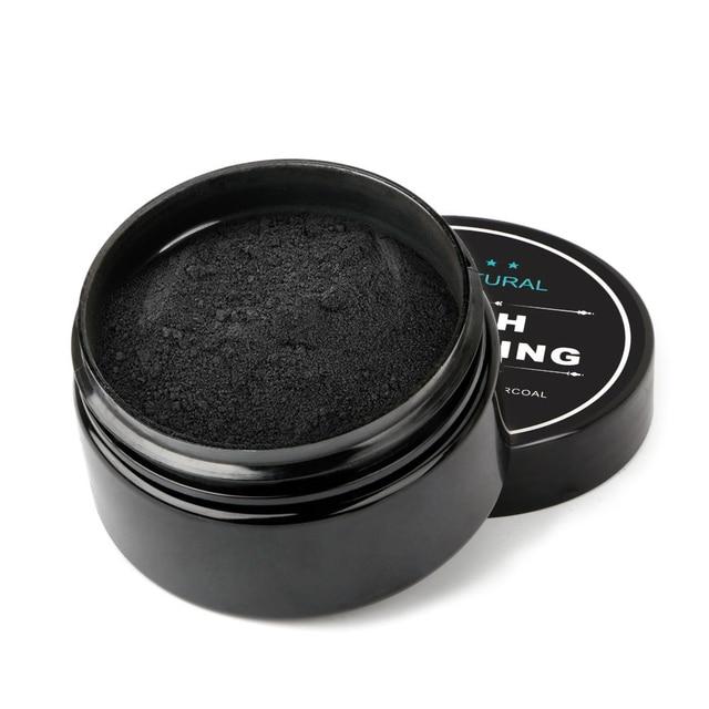 Natural activado de carbón de bambú en polvo dientes blanqueamiento polvo de coco en polvo de blanqueamiento de dientes higiene Oral 30g