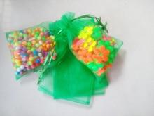 100 unids Hierba verde del regalo del organza bolsas 10×15 cm bolsos de fiesta para las mujeres evento casarse Con Cordón bolsa de La Joyería pantalla Bolsa de accesorios de bricolaje