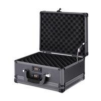 iKayaa Storage Box Cosmetic Organizer Gun Valuables Jewelry Storage Box Tools Lockable Clothes Storage Box Organizer For Travel